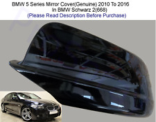 BMW 5 Series Wing Mirror Cover (Genuine) R/H Or L/H In Schwarz 2(668) 2010-16
