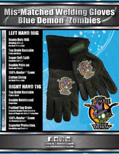 Mis-Matched Welding Gloves Blue Demon Zombies