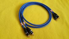 Pair Mogami 2534 Interconnect Audio Cable Nakamichi RCA Connector Plugs Blue 6ft