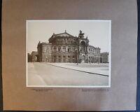 Fotografie Königliches Opernhaus Dresden 1908 Architektur Foto Sachsen xz