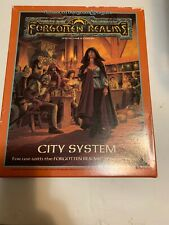 CITY SYSTEM 1040 Forgotten Realms Dungeons Dragons AD&D Boxed Set Free Shipping