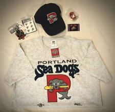 "PORTLAND SEADOGS ADJUSTABLE HAT, T SHIRT (L) TEE, MAGNET, DECALS, ""DOG TAG"" ~NEW"