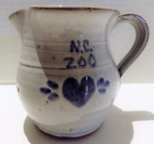 NC Vintage OWEN Pottery Small Pitcher Redware N. C. Zoo Seagrove