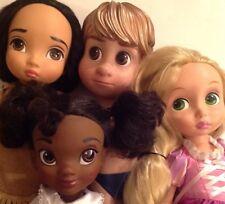 "Disney Animators Dolls Lot - 16"" Tangled Rapunzel,,Pocahontas,,Tiana,,& Kristoff"