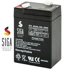 Blei Gel Akku 6V 5AH Batterie Notstrom USV Rasen Solar Mäher 4,5Ah 4Ah 6Volt