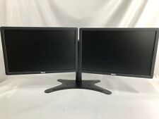 "2 x Dell LED 19"" Monitors LCD Screen w/ Heavy Duty Adjustable Dual Stand P1913B"