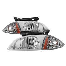 Chevy 00-02 Cavalier Chrome Housing Replacement Headlights + Corner Lamp LS Z24