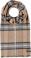 Fraas Men's Scarf Camel Brown One Size Plaid Printed Fringed-Hem $30 #729