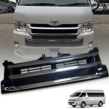 FRONT GRILLE GRILL GLOSS BLACK CHROME FIT FOR TOYOTA COMMUTER HIACE 2011-2014