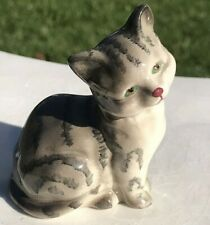 Vintage Royal Doulton Bone China Gray Striped Cat Figurine Mint Condition