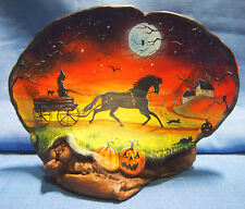 "2013 Halloween Hand-painted Tree Fungus Art By Shirley Olsen-""Witch Haven Farm"""