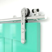 4-16FT Stainless Steel Sliding Barn Door Hardware Closet Track Kit for Wood Door