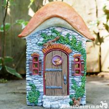 Resin OPENING DOOR FAIRY HOUSE garden ornament squirrel decor Pixie lover gift