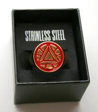 Marvel Comics Iron Man Avengers Logo GoldTone Stainless Steel Ring New Sz10 Box