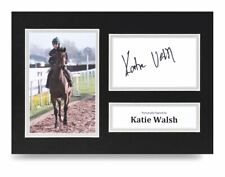 Katie Walsh Signed A4 Photo Display Seabass Jockey Autograph Memorabilia + Coa