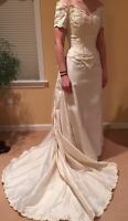 Authentic Vintage Christos Wedding Gown in Ivory