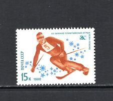 Russia 1980 DOWNHILL SKIING SC 4810 MNH