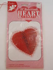 "1995 Paper Magic Group Eureka Red 10"" Honeycomb Heart Decoration Valentines Iop"