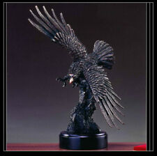 EAGLE Bronze Sculpture Statue Large Home Decor Desk Designer Resin Flying Bird