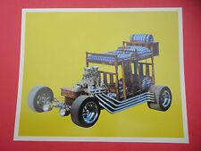 Rare Vintage 60's Bunk Bed California Show Car Photo Handout Card Hot Rod N.O.S.