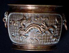 Ancien brule parfum bronze chine encensoir Old censer dragon chinese mark XIX