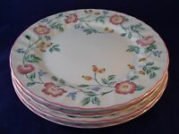 Churchill Briar Rose Set of (4) Dinner Plates England Retired Pattern