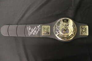 BOB BACKLUND SIGNED JAKKS WWE WORLD CHAMPIONSHIP TITLE BELT JSA JB1462