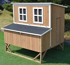 New Large Wood Chicken Coop Backyard Hen House 4-8 Chickens w 4 nesting box