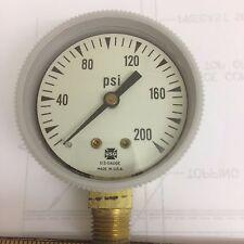 "New listing Usg Pressure Gages P/N 4X513 2"" P570K 200 Psi 1/4"" Npt Lm New"