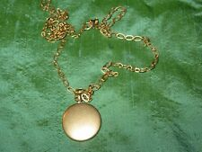 """Gold Plated Disc Pendant &  26"""" Chain Necklace"""