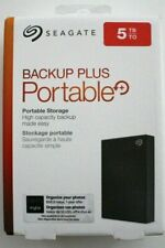 Seagate Backup Plus 5TB Portable Hard Drive HDD - Black (STHP5000400) -BRAND NEW