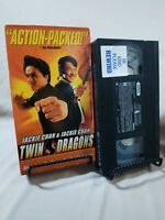 Twin Dragons Jackie Chan 1992 -VHS- RARE HTF OOP Martial Arts Comedy Action Hero