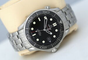 Omega Seamaster 300m Full Size Co-Axial Automatic Watch Black Bezel (2017)