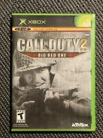 Call of Duty 2: Big Red One Collector's Edition Microsoft Xbox CIB tested