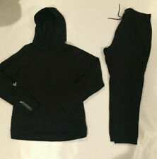 NWOT NIKE JORDAN WINGS FLEECE SWEATSUIT HOODIE + JOGGER PANTS BLACK Sz 2XL/3XL
