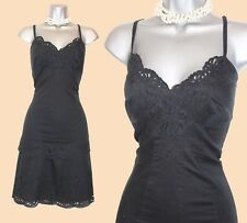 Karen Millen Black Thin Cotton Broderie Anglaise Casual Summer Dress UK14  EU42