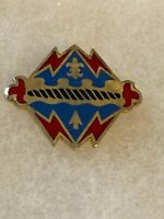Authentic US Army 17th Field Artillery Regiment DI DUI Unit Crest Insignia E-23