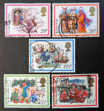 GREAT BRITAIN #1006-1010 used 1982 Christmas complete set. We combine shipping