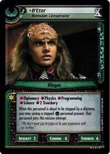 """Star Trek CCG 2E Necessary Evil B'Etor, Romulan Conspirator """"X"""" FOIL 4R165"""