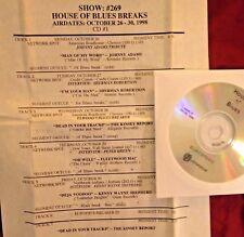 RADIO SHOW: BLUES BREAKS 10/26/98 FLEETWOOD MAC, SHERMAN ROBERTSON, JOHNNY ADAMS