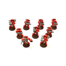 BLOOD ANGELS 9 Tactical Marines squad, many special weapon #1 40K Painted