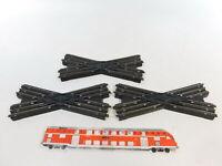CB61-0,5# 3x Trix Express H0/DC 20/9 Bakelit-Kreuzung