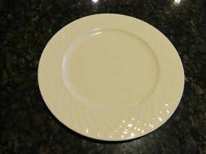 """4 NWT NEW 10 STRAWBERRY STREET 12"""" PORCELAIN CHARGER PLATE CREAM CHECKERED HV 11"""