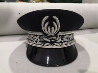 FRENCH POLICE PEAK CAP VISOR HAT NATIONAL DIRECTOR HAND EMBROIDERED ALL SIZES
