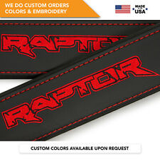 Seat Belt Covers Shoulder Strap Pads Custom Made Fits Ford Raptor F-150 Red 2PCS