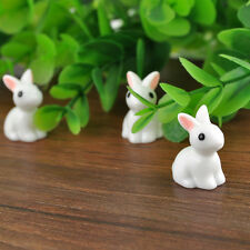 10X Lovely Miniature Rabbit Ornament Figurine Bonsai Fairy Garden Decor Statues