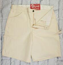 Dickies Cream Heavy Duty Work Cargo Carpenter Shorts Regular Fit W32 £69 New