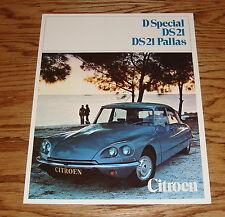 Original 1970 Citroen D Special DS 21 DS 21 Pallas Sales Brochure 70