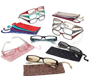 JOY MANGANO Shades 19-pc Readers Glasses Couture Croco Embossed Style +3.50