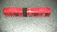 Red articulated city bus 988 Gare Centrale Model Rare 16 inch plastic